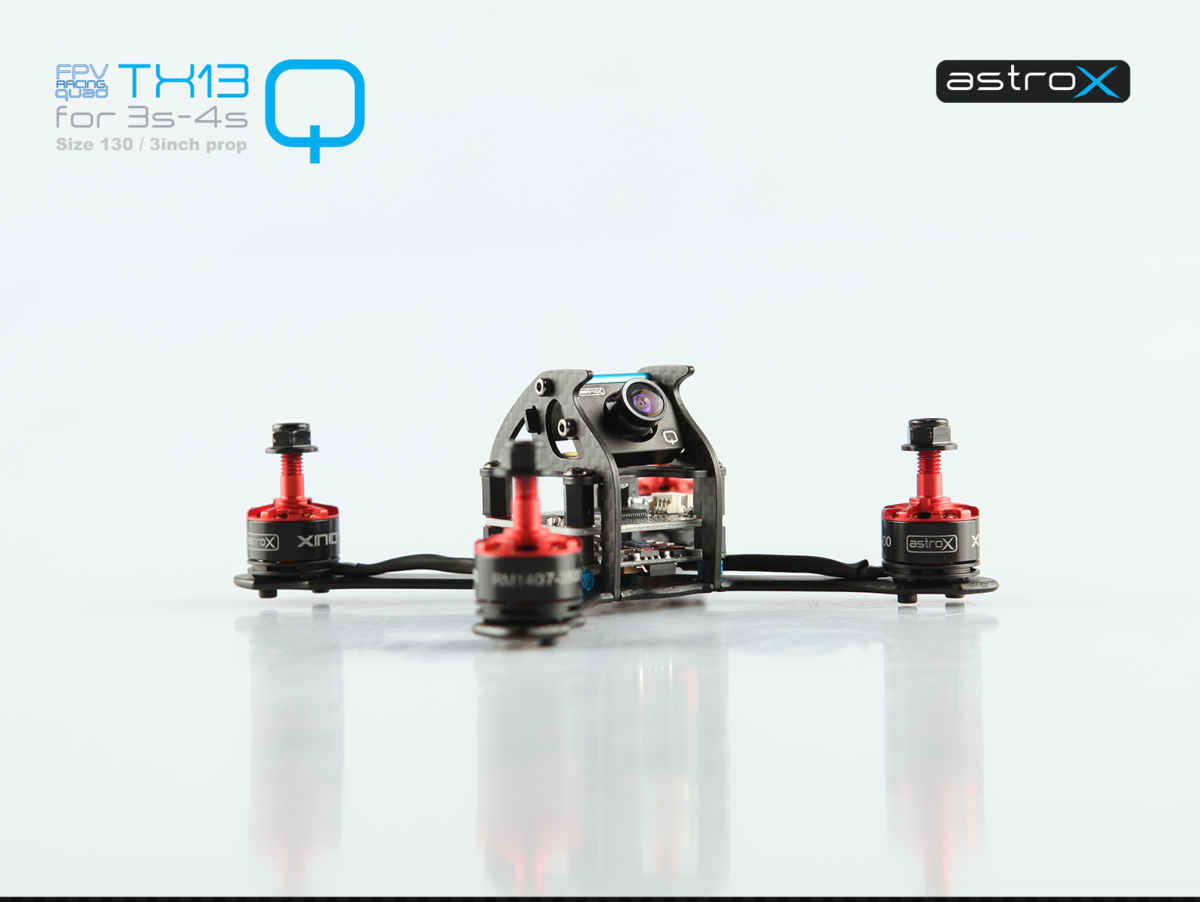 AstroX Q size 130 Tiny racing drone frame kit - AstroX FPV Racing Drone