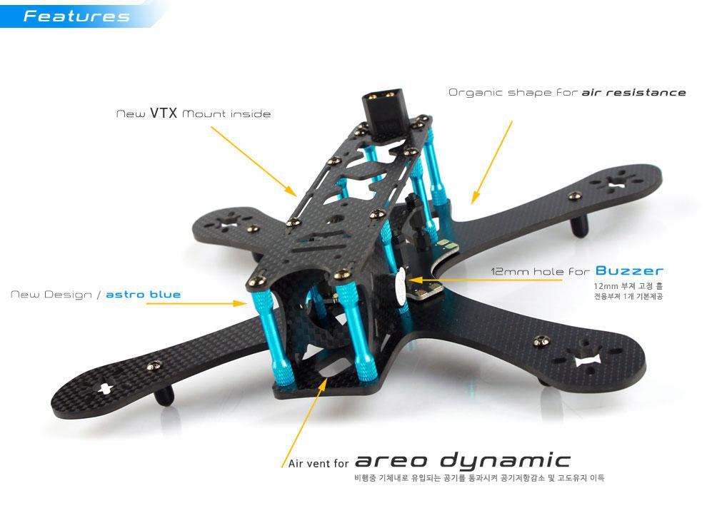 astroX210 V2 FPV Racing Drone Frame Kit - AstroX FPV Racing Drone